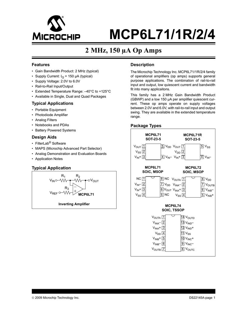MCP6071-E//SN General Purpose Amplifier 1 Circuit Rail-to-Rail 8-SOIC