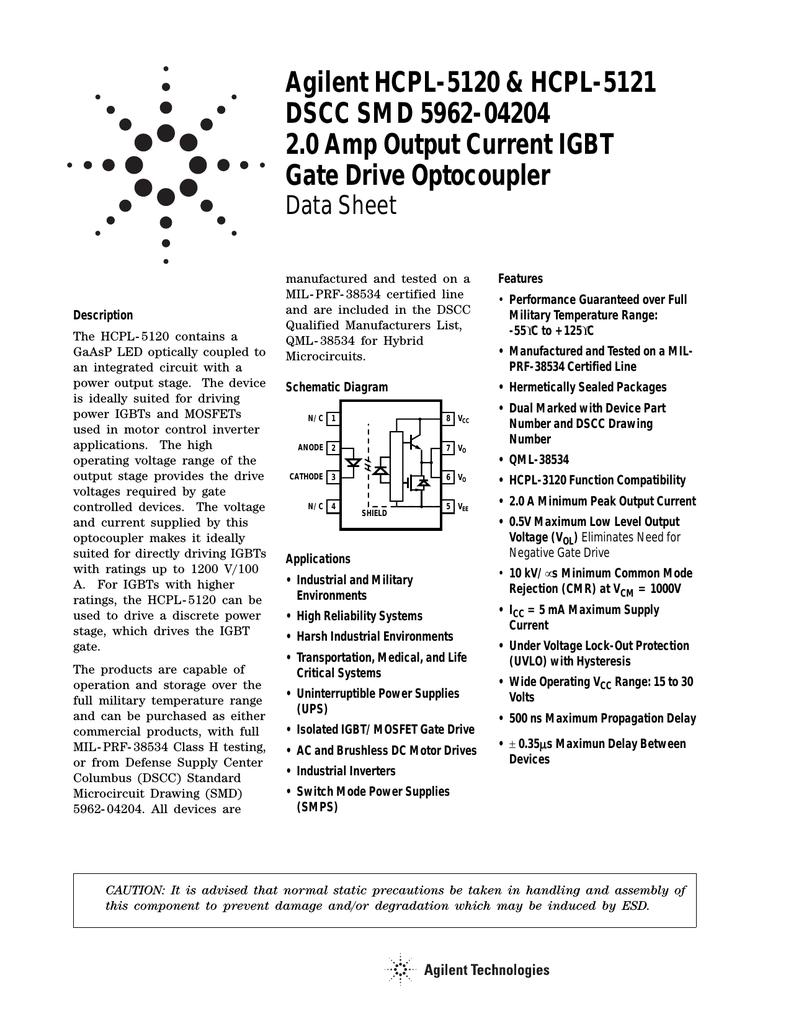 AGILENT HCPL-5121-100