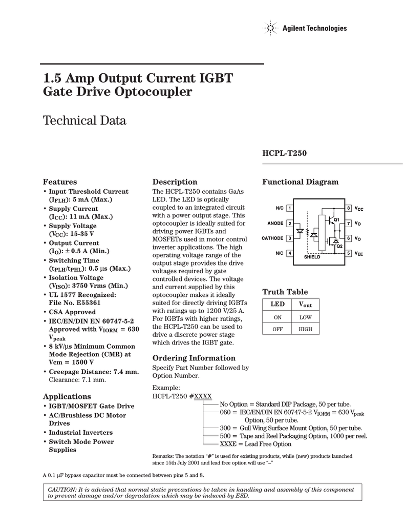 Agilent Hcpl T250 Brushless Dc Motor Driver Block Diagram