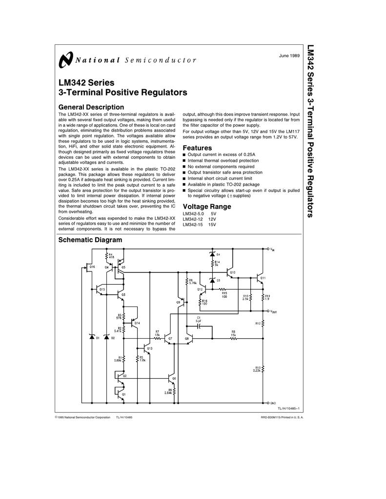 Nsc Lm342p 12 Schematic Diagram Of Power Filter Regulator Circuit