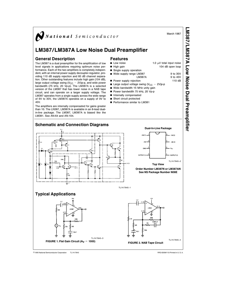 Nsc Lm387an Open Circuit Short