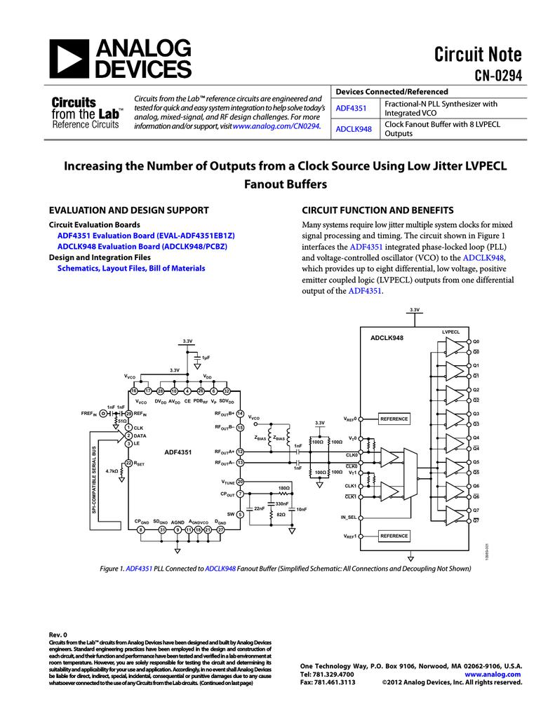 Ad Adf4351 Buffer Circuit Schematic Diagram