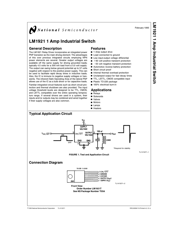 Nsc Lm1921 Thermal Overload Relay Wiring Diagram
