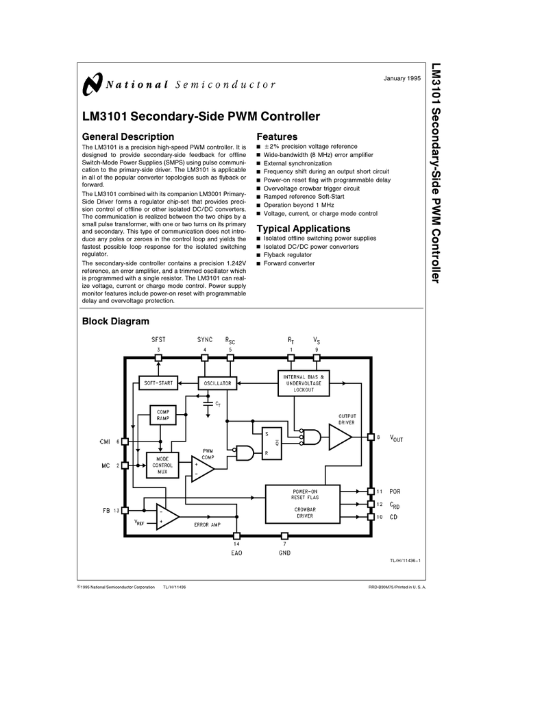 Nsc Lm3101n Circuit Diagram Of Synchronized Mains Voltage Power Control