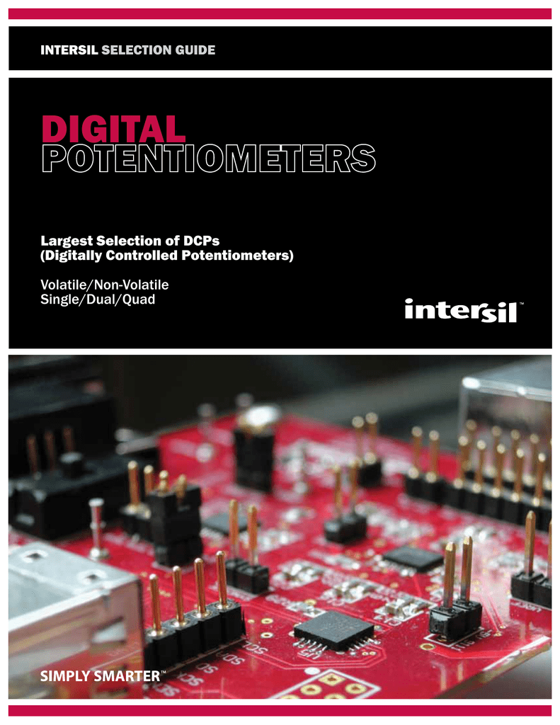 Intersil Isl90462 256 Tap Digitally Potentiometers
