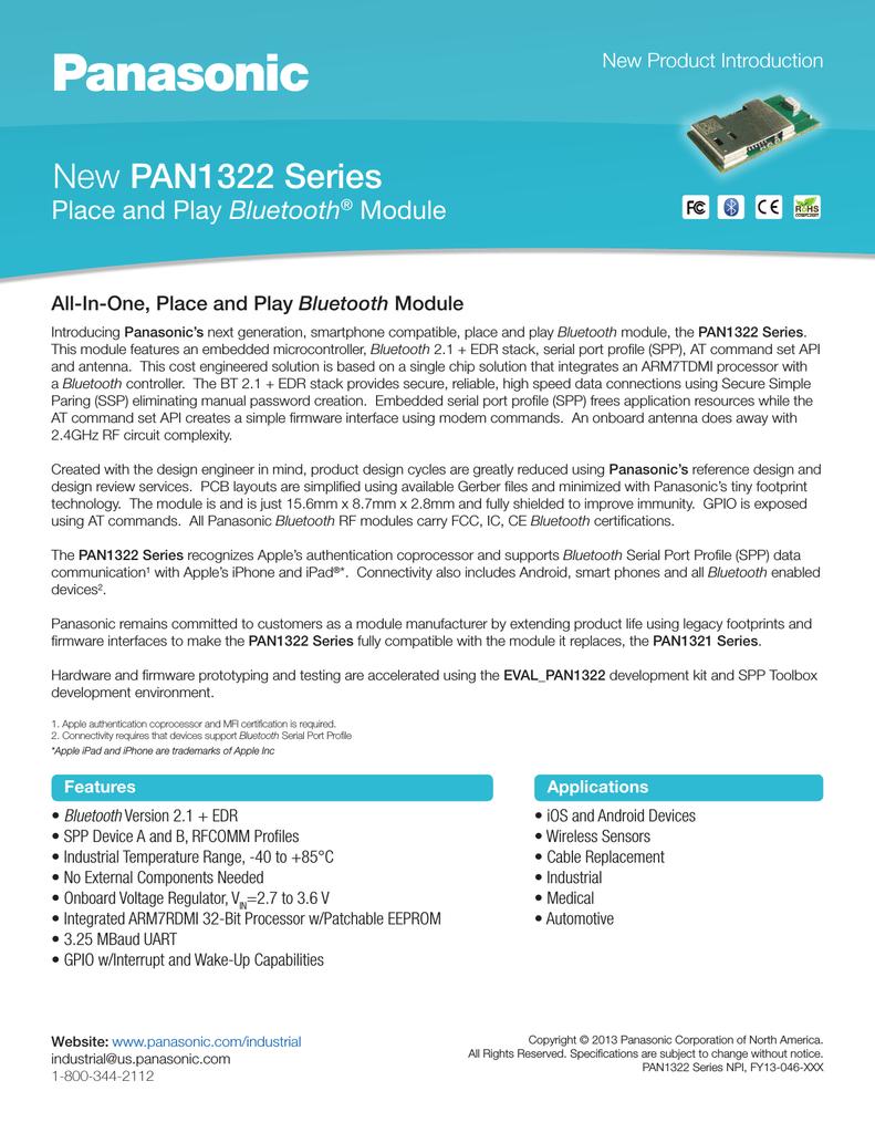 PANASONIC EVAL_PAN1322