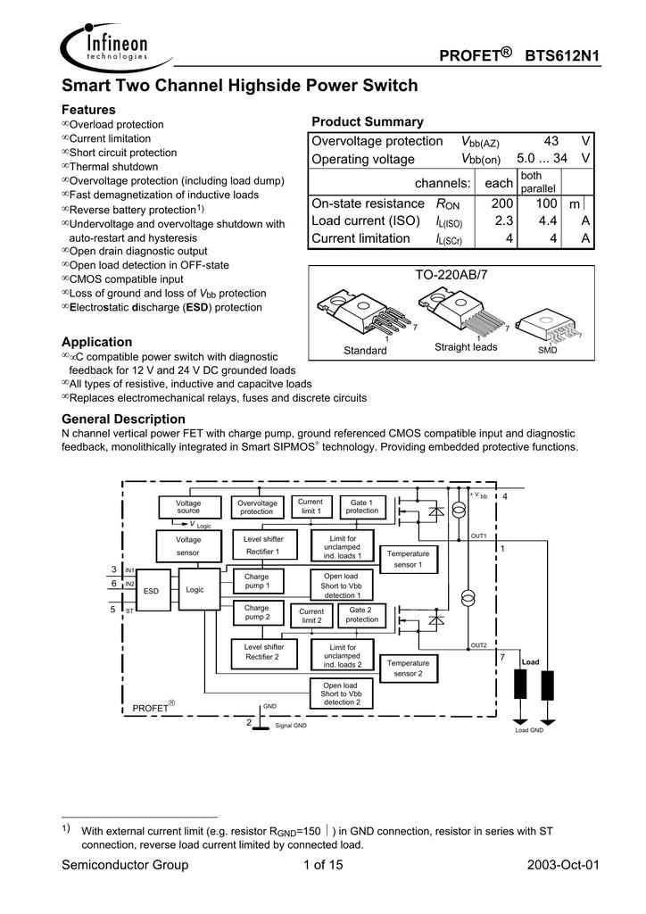 Infineon Bts612n1e3230 12 Volt Reversing Relay Wiring Diagram
