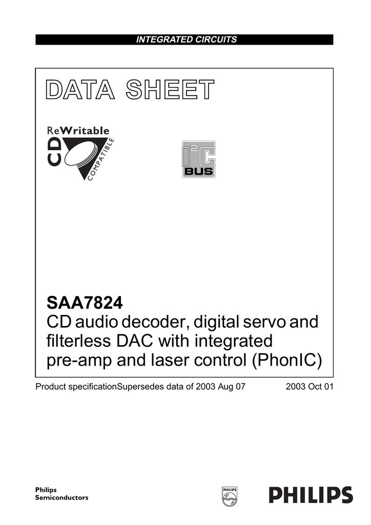 Saa7824hl Circuito Integrato SMD LQFP 80 CD AUDIO decodificatore digitale Servo