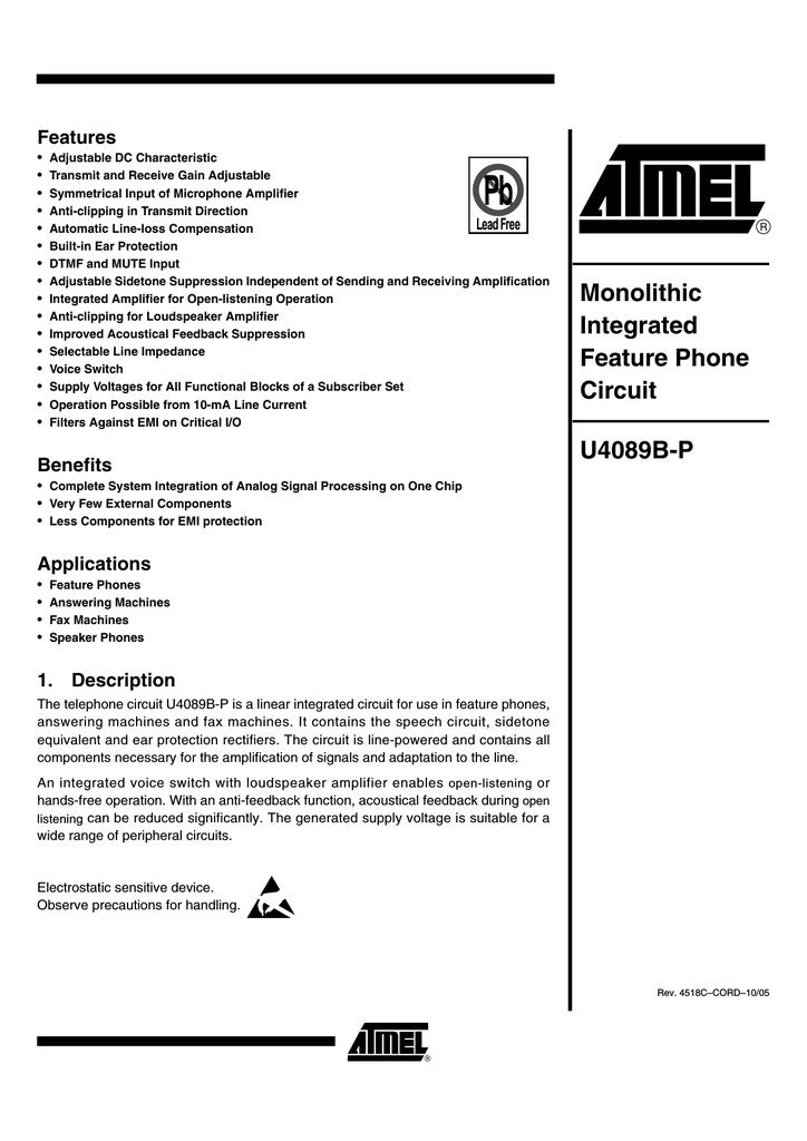 ATMEL U4089B