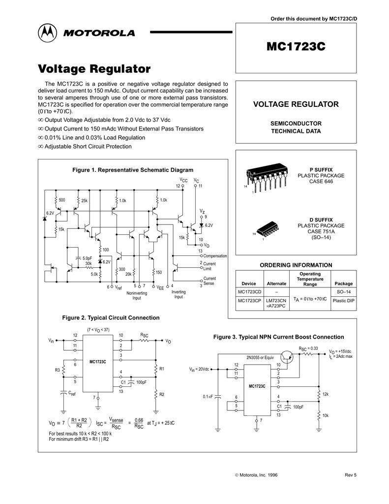 Motorola R2 Regulator Wiring Diagram Electrical Schematics Alternator Mc1723cp Model