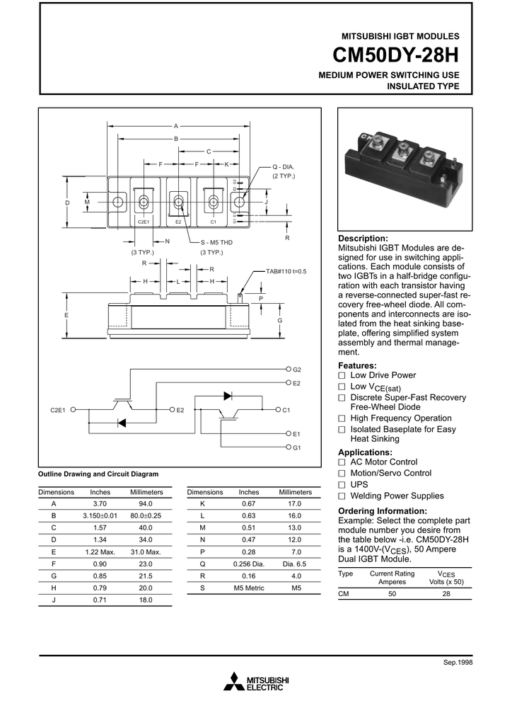 Automation, Motors & Drives 1 Pcs CM600HA-28H MITSUBISHI HIGH ...