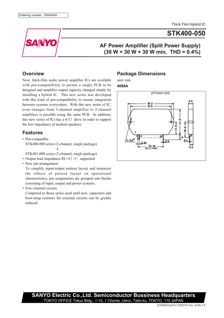 SANYO New Integrated Circuit LA7578N