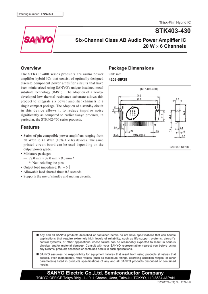 CASE Sanyo STK433-060 SemiConductor STK433-060 MAKE