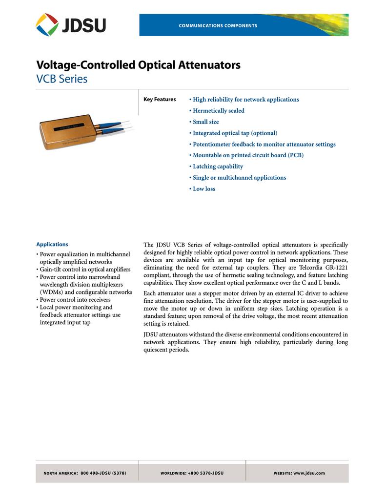 Jdsu Vcb11nc2 Voltage Controlled Attenuator