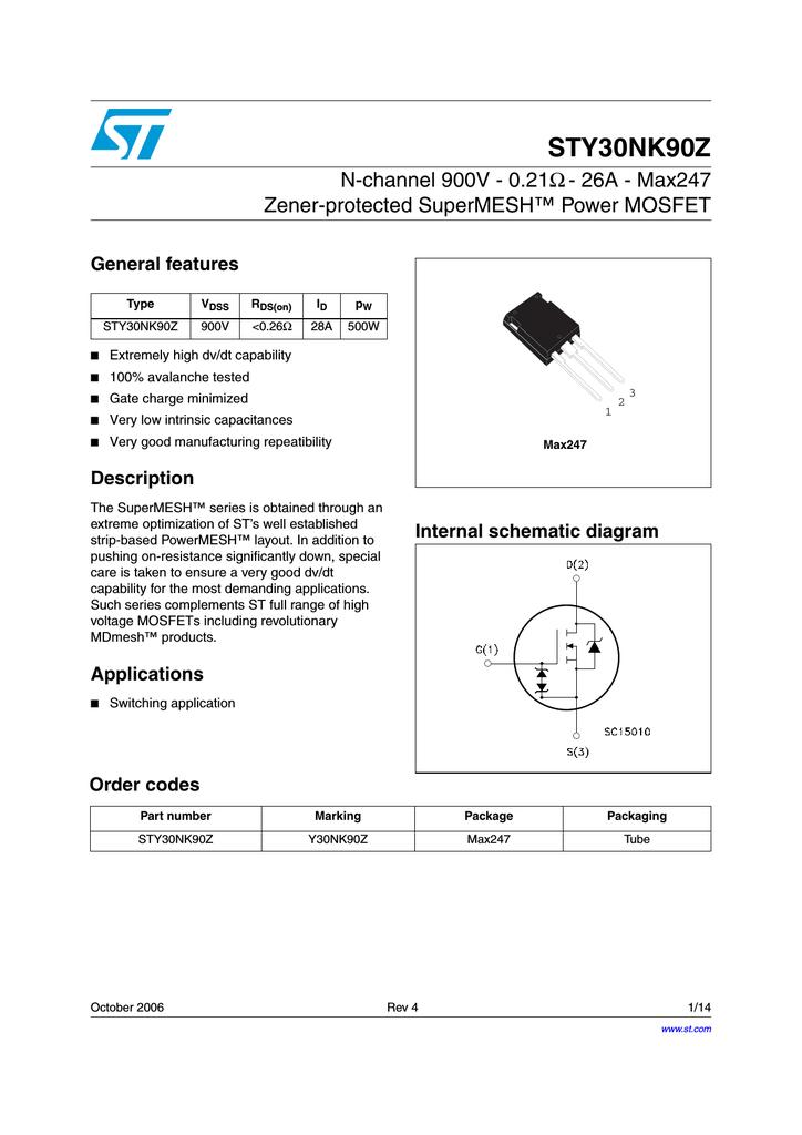 STMicroelectronics STP11NK50Z N-Channel MOSFET 10 A 500 V mdmesh supermesh