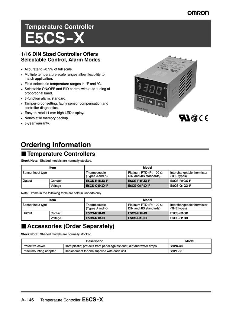 OMRON E5CS-R1KJX-F on