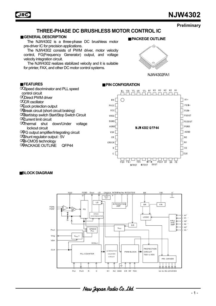 Njrc Njw4302 F G Block Diagram