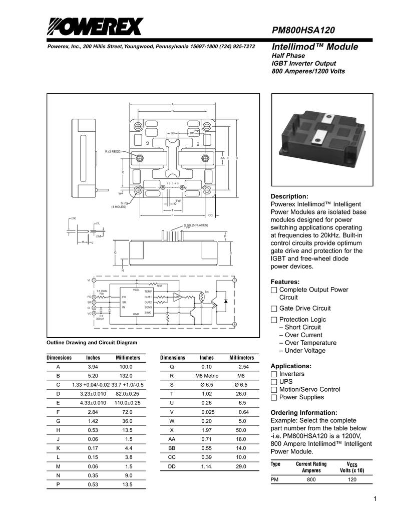 POWEREX PM800HSA120