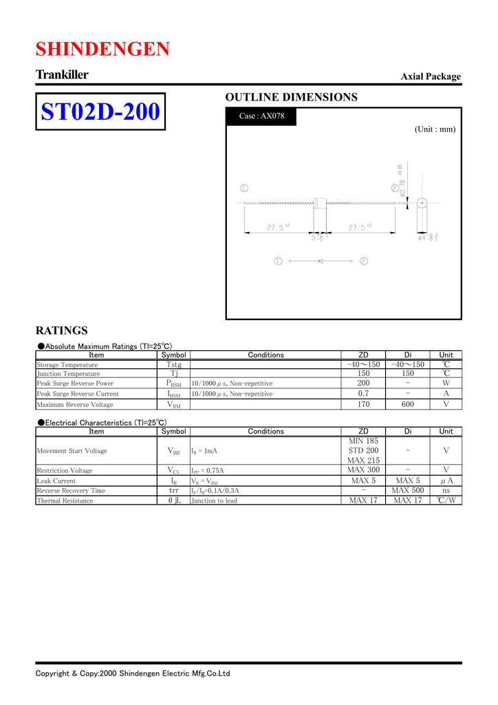 Shindengen St02d 200