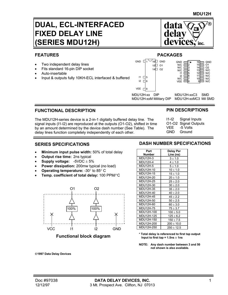 Datadelay Mdu12h Block Diagram Delay