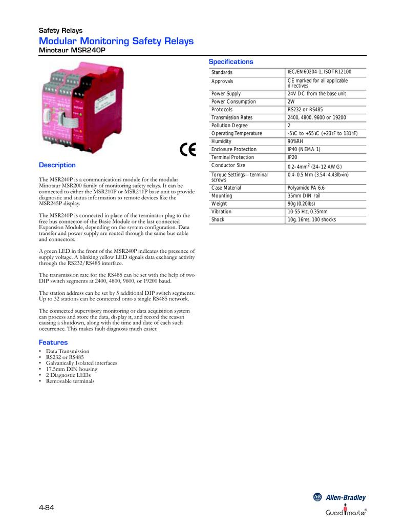ALLEN-BRADLEY MSR240P