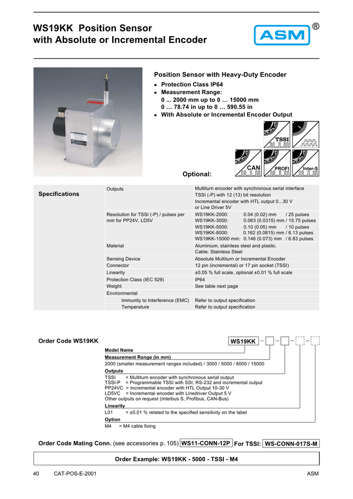 Asm Sensor Ws19kk Incremental Encoder Wiring Diagram