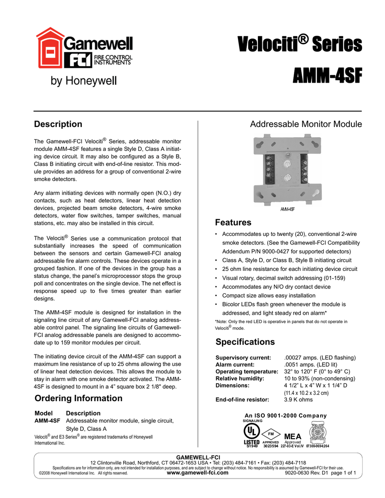 Gamewell Fci Amm 4sf Tamper Switch Wiring Diagram