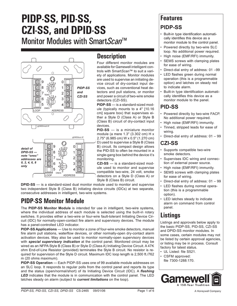 Gamewell Fci Pid Ss Fire Alarm Wiring Diagram