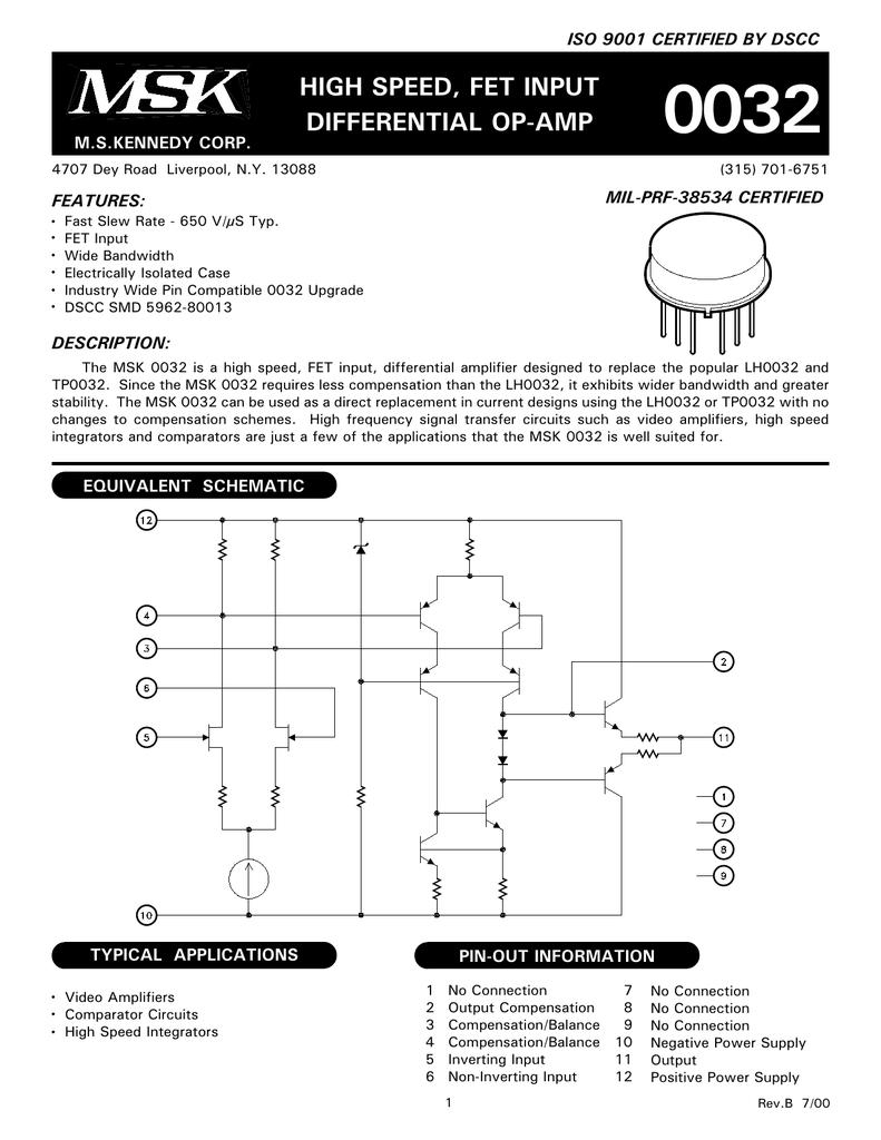 Etc 0032 Opamp Comparator Circuit