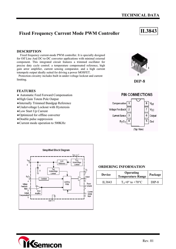 Iksemicon Il3843 Mosfet Protection Circuit