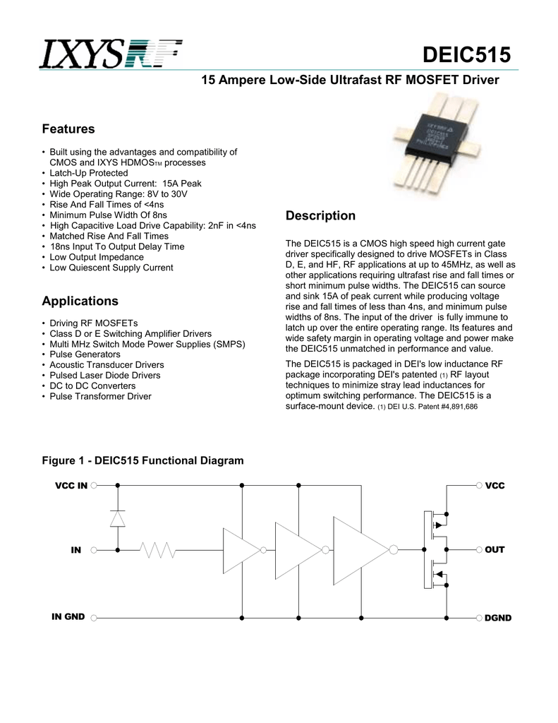 Ixys Deic515 Pulsed Laser Diode Driver Circuit