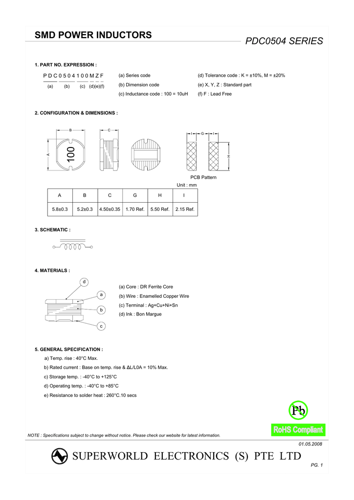 Superworld Pdc0504100mzf 100 2 In Stock Dimensions Wiring Diagram