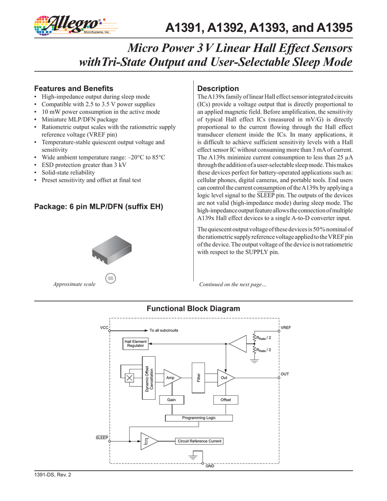 Allegro A1395 Hall Effect Sensor We Will Use In This Circuit Is An A1302