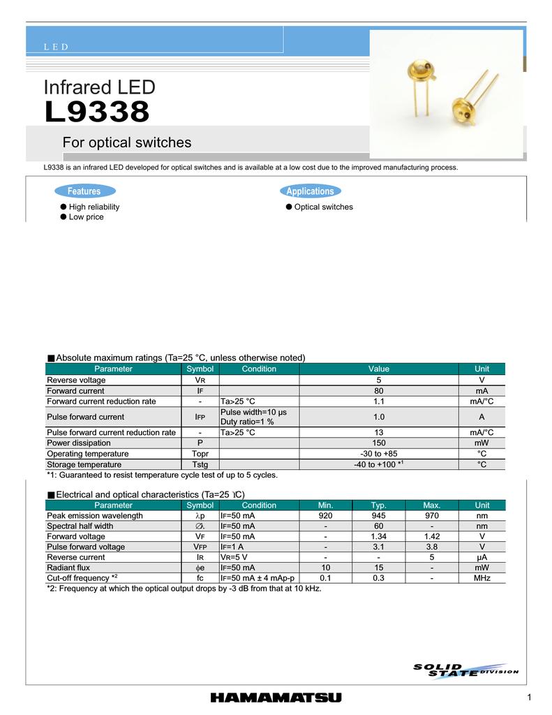 HAMAMATSU L9338