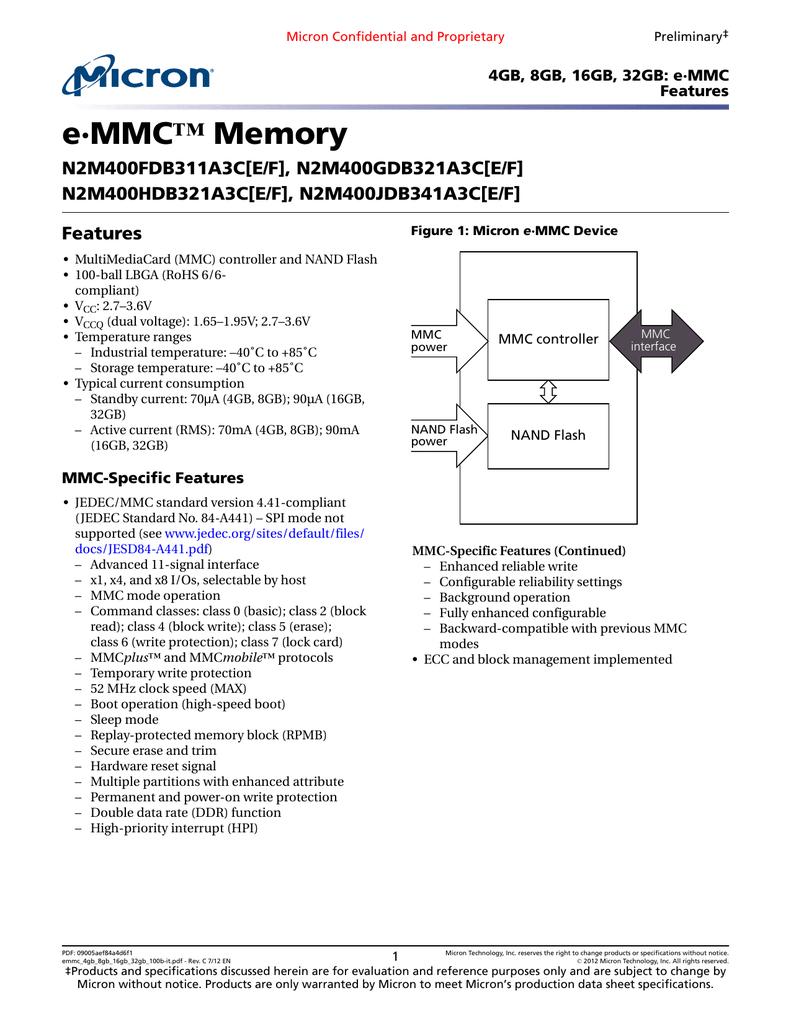MICRON N2M400FDB311A3CE