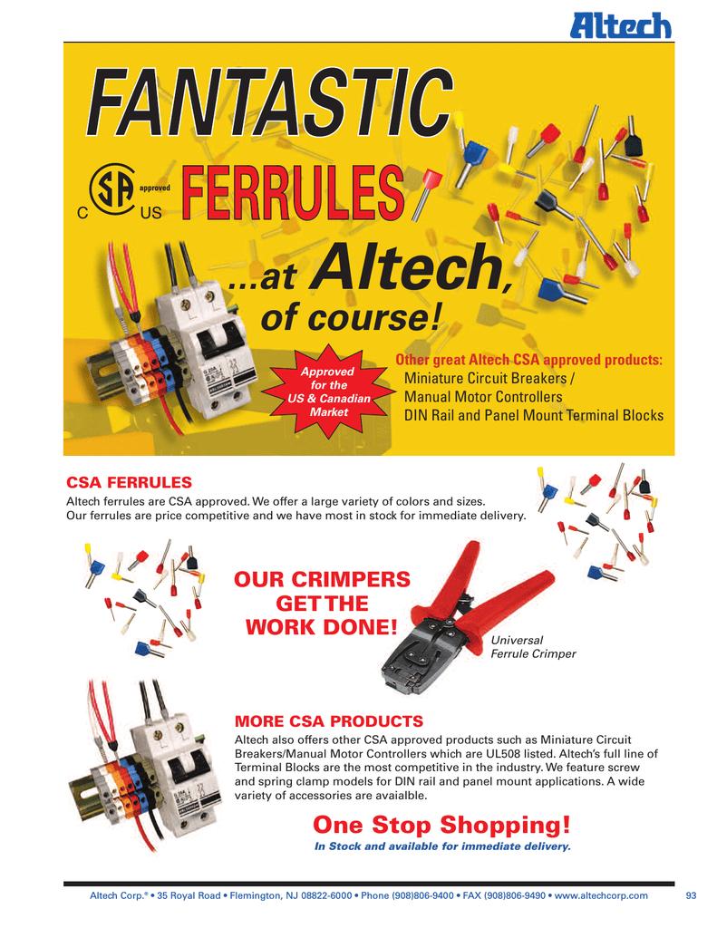ALTECH Corp S1 Green Panel Mount Contact Block NO