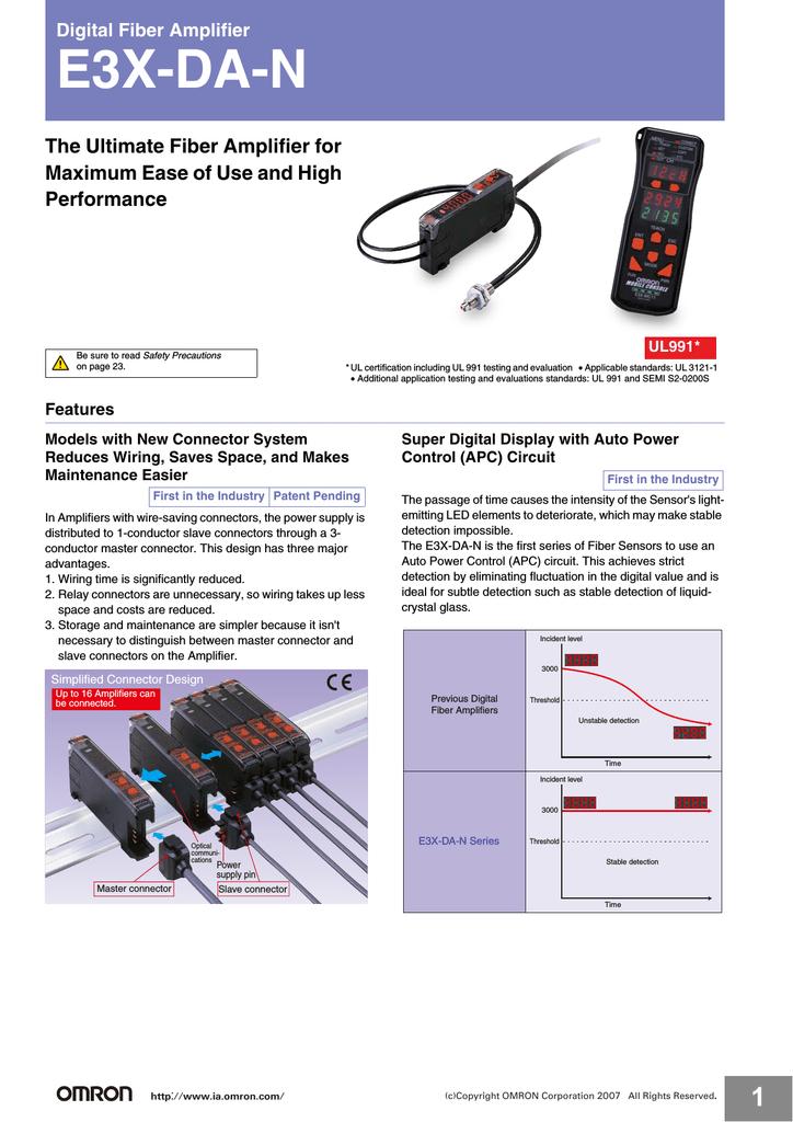 Omron E32-C31 Fiber Optic Sensor w// Omron E3X-DA41-S  Photoelectric Switch