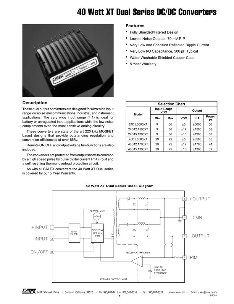 CALEX DC-DC CONVERTER 12S5.1000