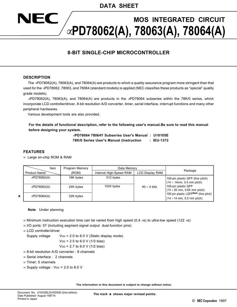 ETC UPD78064GF(A)-XXX-3BA