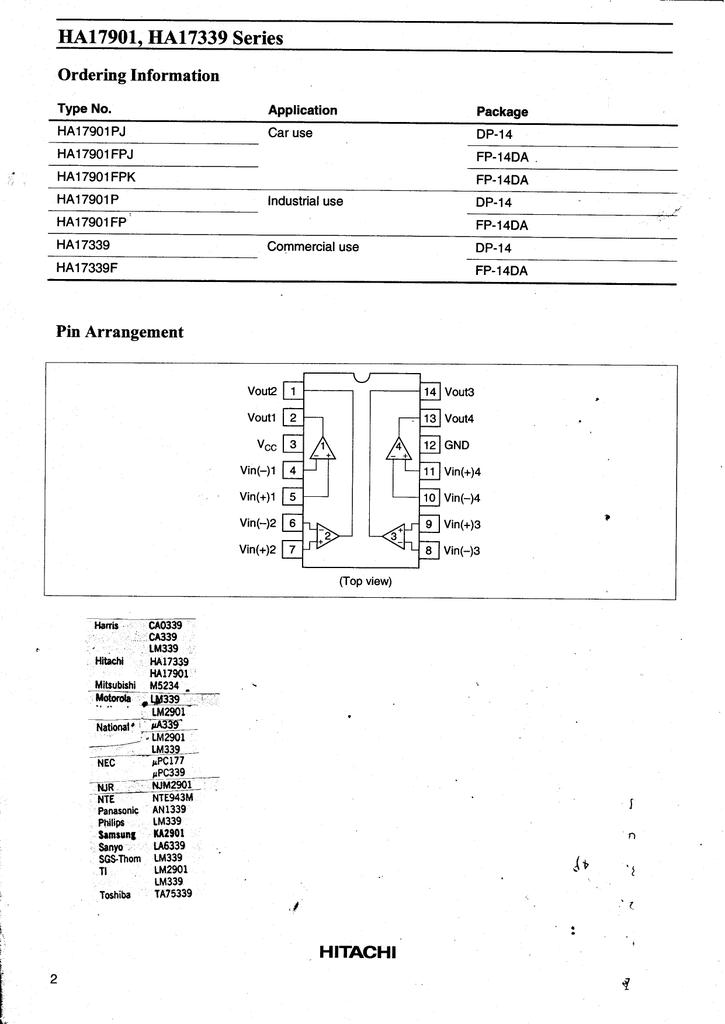 HA17339 POWER COMPARATOR