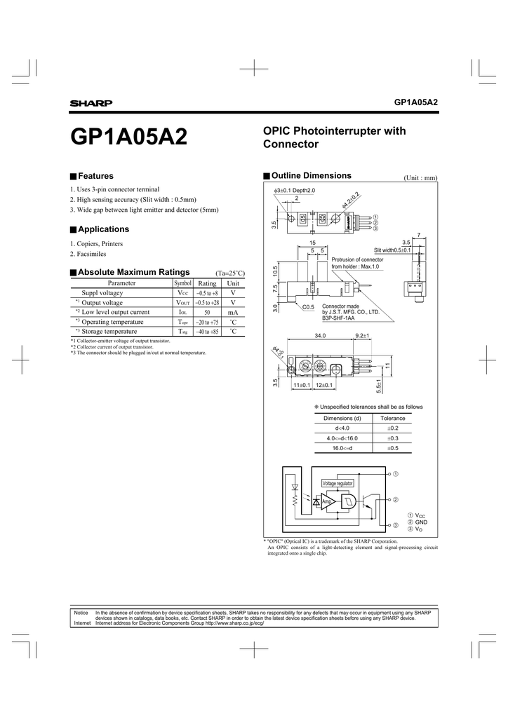 SHARP GP1A05A2