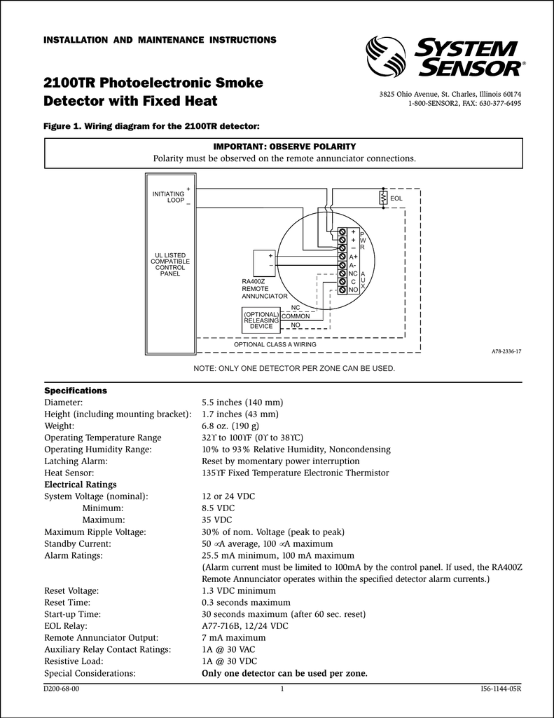 Wiring Diagram Smoke Detector Wiring Diagram Connection Diagram For