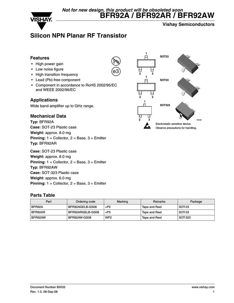 10 x bfr92a NPN transistor