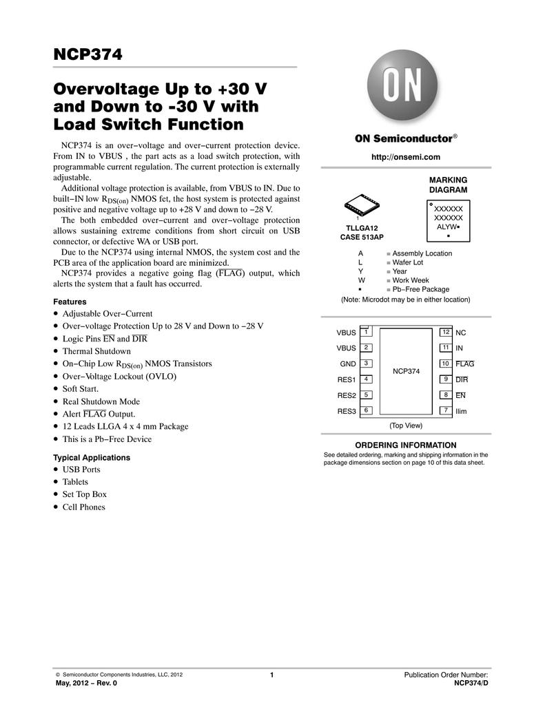 Onsemi Ncp374mu075txg Logic Overvoltage Protection