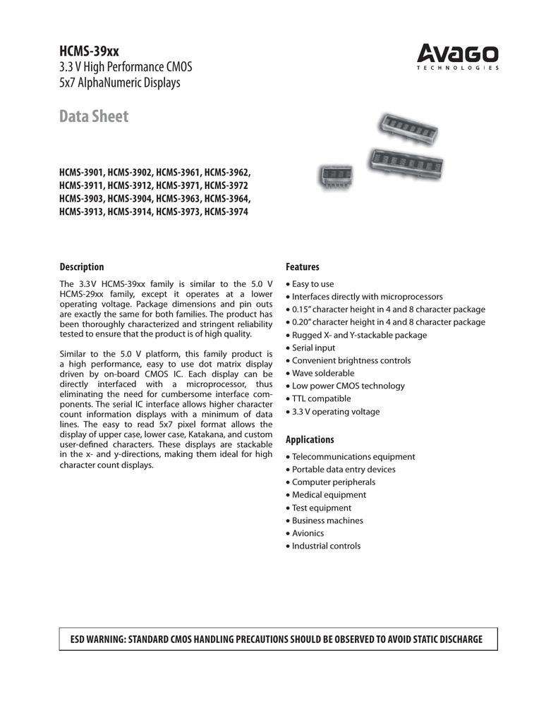 AVAGO HCMS-3973