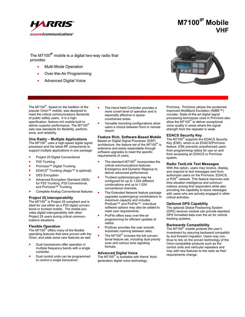 M7100(IP) - Harris Corporation