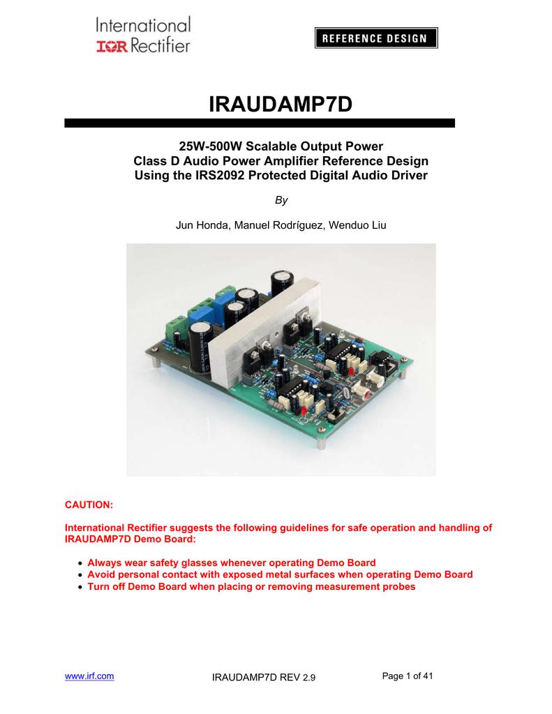 IRAUDAMP7D - International Rectifier