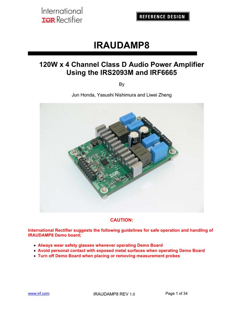 Reference Design International Rectifier 170w Class D Amplifier Schematic Diagram