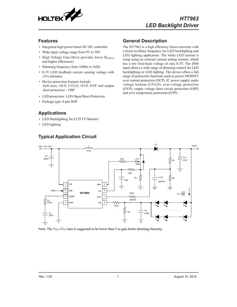 Ht7963 Led Backlight Driver Supply 5v Vcc And 12v To 30v Input Application Circuits 001276077 1 B27ad65ef242cd45d8b945c729b6ab1f