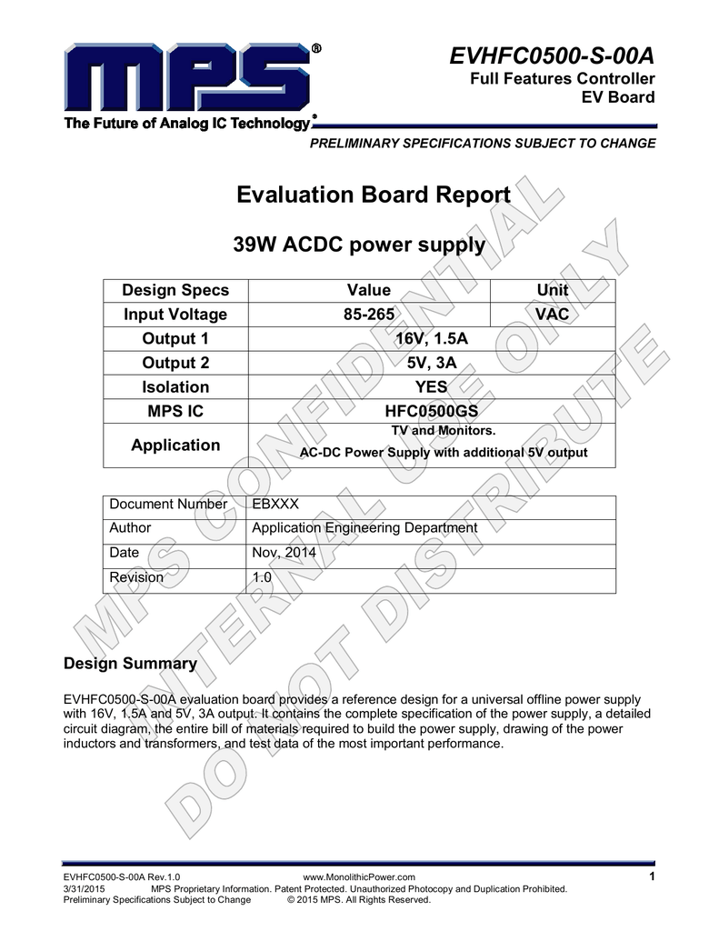 Power Supply Schematic 2 New Design Revision 2014